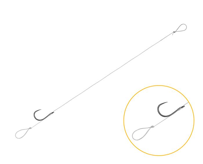 Feederový návazec Delphin FLR Loop / 6ks