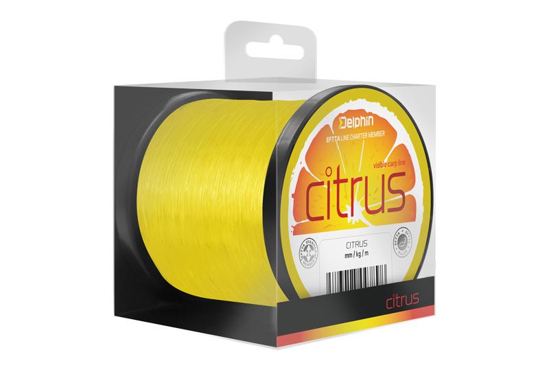 Delphin CITRUS / žlutý,0,35mm 19lbs 17800m