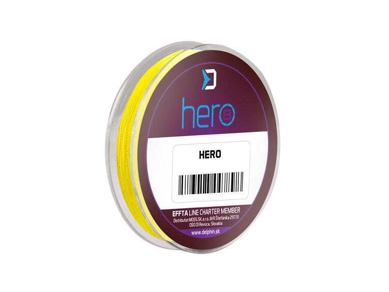 Delphin HERO 8 / fluo žltá0,12mm 8,20kg 15m