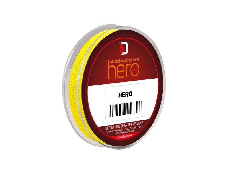 Delphin HERO 4 / fluo žltá0,12mm 8,20kg 15m
