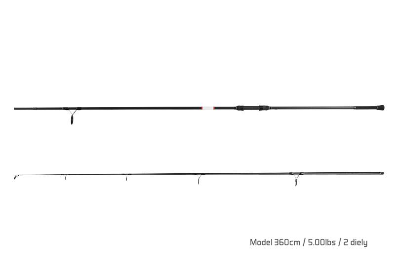 Prut Delphin Bomber - 2 díly 360cm/5.00lbs