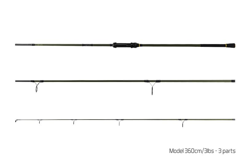 Prut Delphin Nexis Carp - 3 díl 360cm/3.00lbs