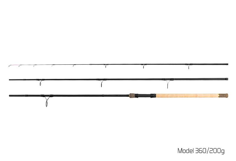 Prut Delphin River Trophy Feeder X-TRA - 4 špičky 360cm/200g