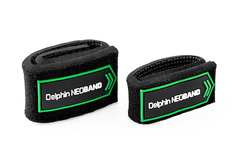 Stahovací pásky na pruty Delphin NEOBAND 2ks
