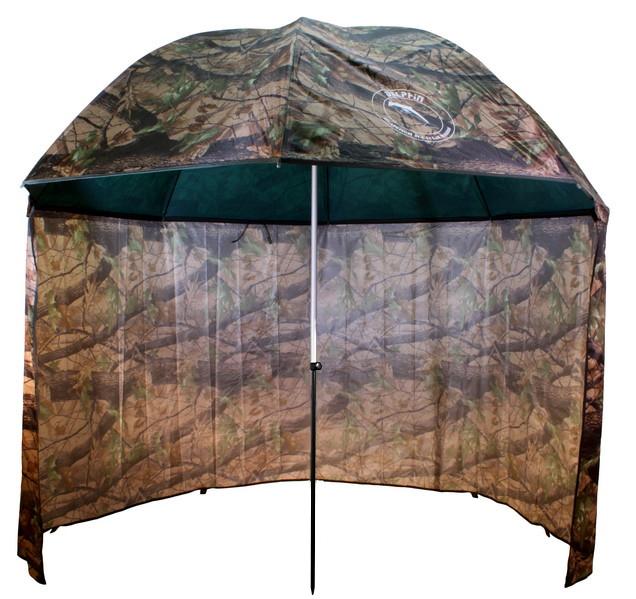 Deštník PVC s prodlouženou bočnicí,250cm/kamufláž