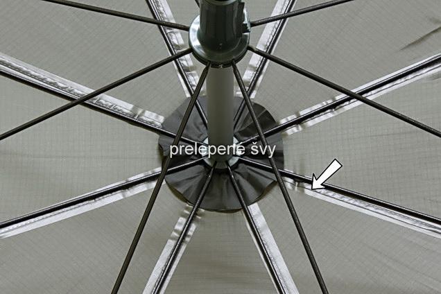 Dáždnik DELPHIN s predlženou bočnicou 250cm/zelená