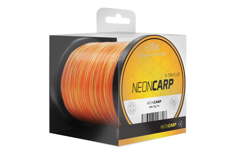 FIN NEON CARP 300m / žluto-oranžová,0,26mm 10,8lbs