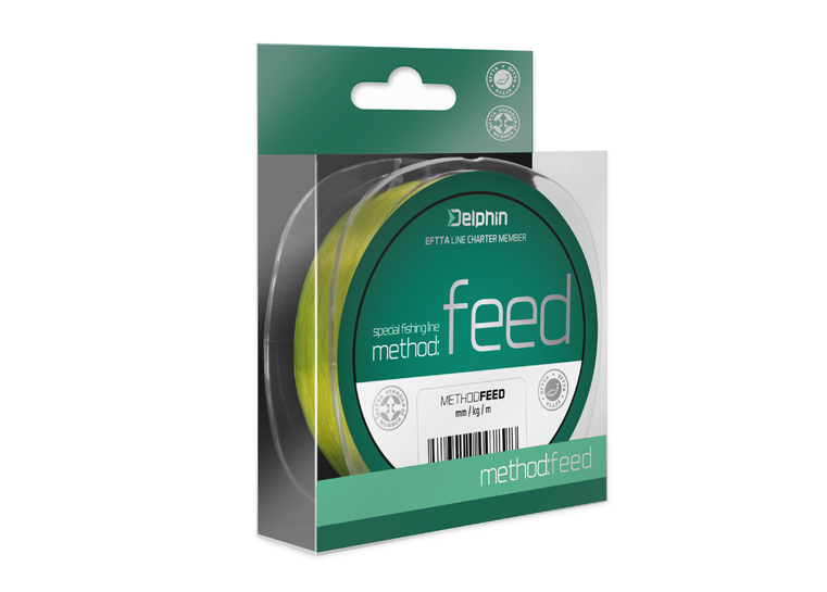 Delphin Method FEED žltá 200m 0,20mm 8,1lbs