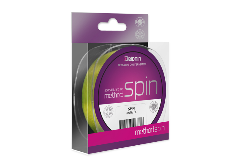 Delphin Method SPIN žltá 150m 0,14mm 4lbs