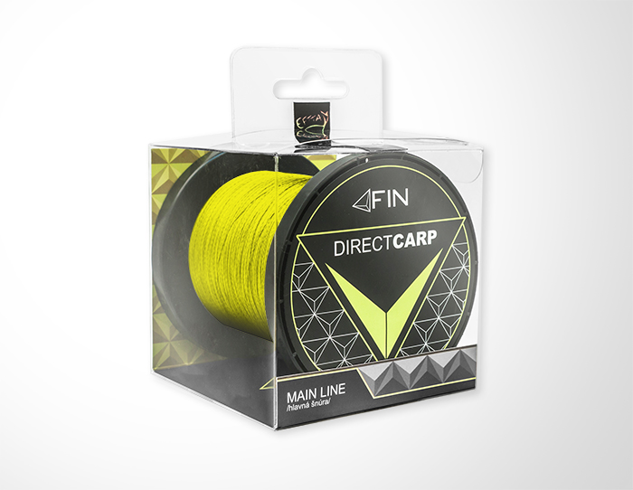 FIN RECORD CARP 1000m/fluo žltá