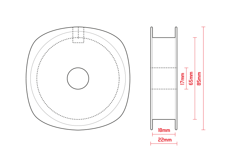 Cievka 100-300m / 10ks transparentná