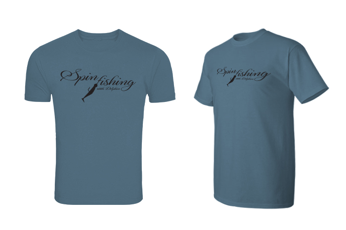 Tričko Delphin SPIN fishing,modrá / XXL
