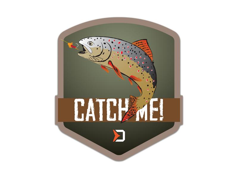 Nálepka Delphin CatchME! PSTRUH