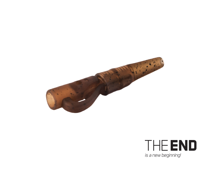 Závesný PIN klip s gumičkou THE END / 10ksG-ROUND
