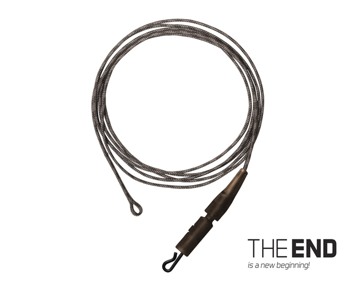 Nadväzec THE END Leadcore + PIN clip / 3ks 1m