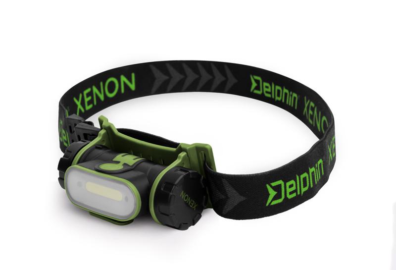 Čelová lampa Delphin XENON,5W