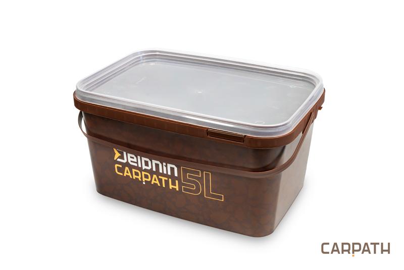 Hranaté vedro s vrchnákom Delphin CARPATH 5l