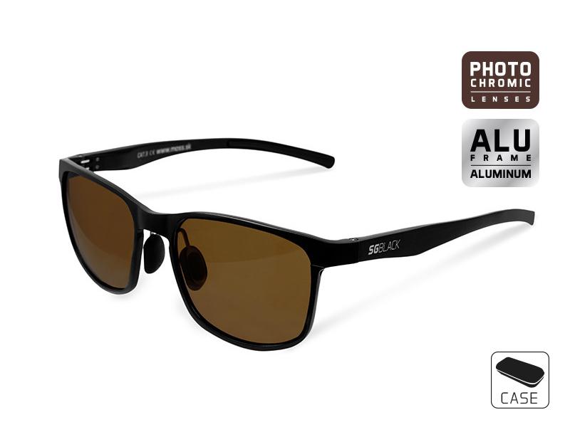 Fotochromatické okuliare Delphin SG BLACK hnedé sklá