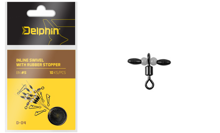 Inline swivel with rubber stopperS / 0