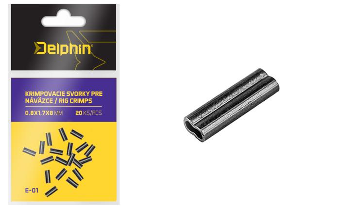 Krimpovacie svorky pre náväzce/20ks0,8x1,7x8mm