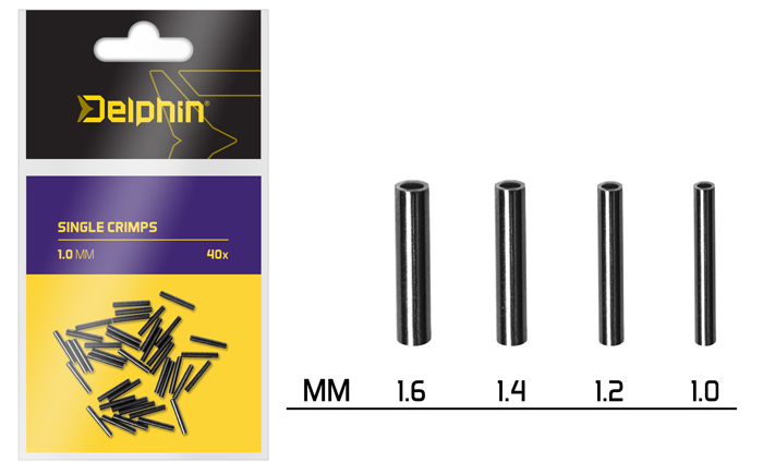 Delphin Single CRIMPS /40ks,1.6mm
