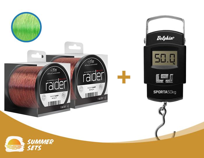 2ks fin RAIDER bronz/600m + digitální váha SPORTA